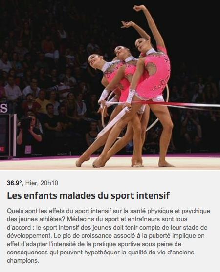 RTS - 36-9 - Les enfants malades du sport intensif