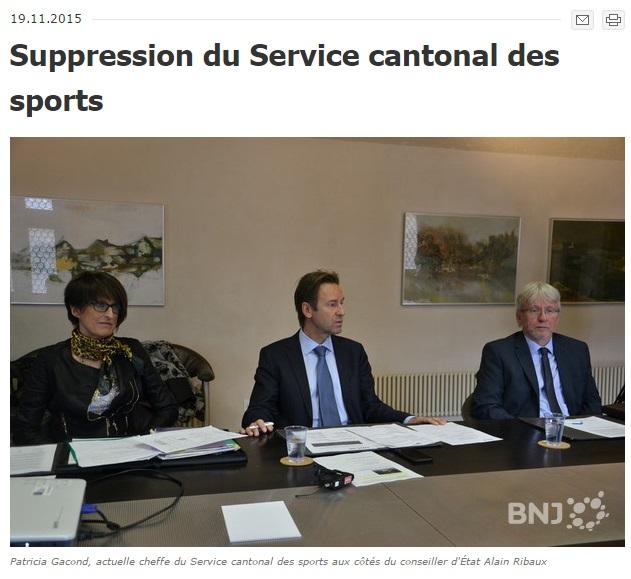 Suppression du Service des sports