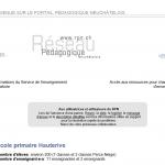 Page d'accueil du portail pédagogique du 19 juin 2008