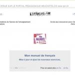 Page d'accueil du portail pédagogique du 20 juin 2012