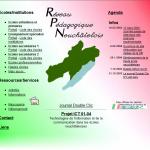 Page d'accueil du portail pédagogique du 26 février 2004