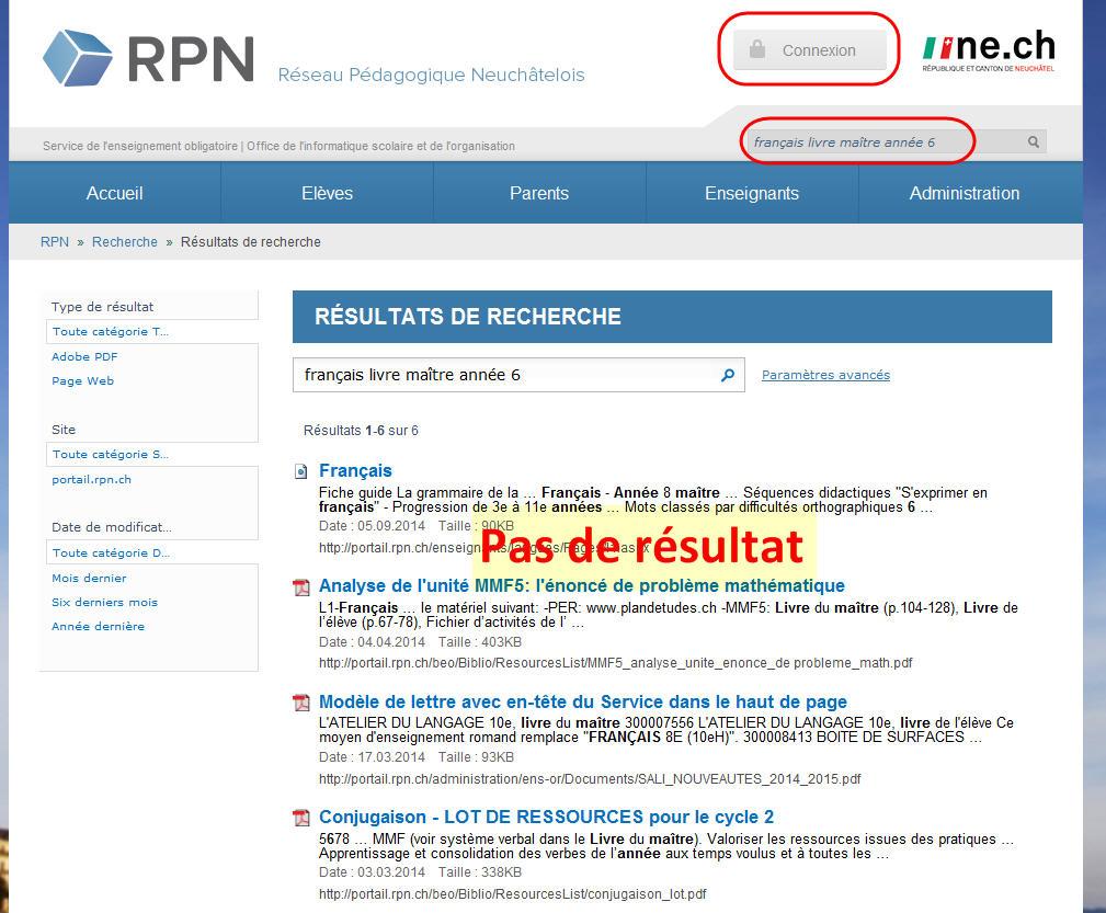 recherche_pasconnect