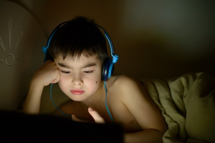 boy influenced by late tv watching
